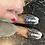 Thumbnail: Mocassini velluto ikat bianco nero