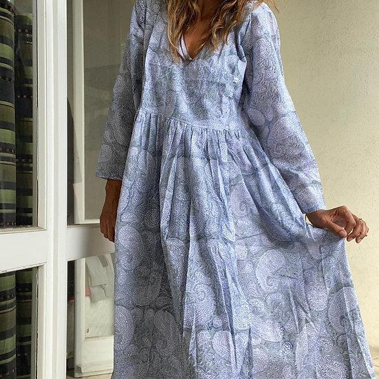 Vestito lungo leggero azzurro