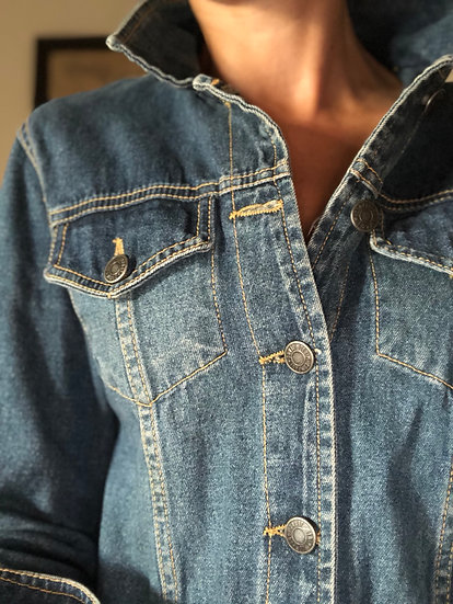 Abito o spolverino in jeans