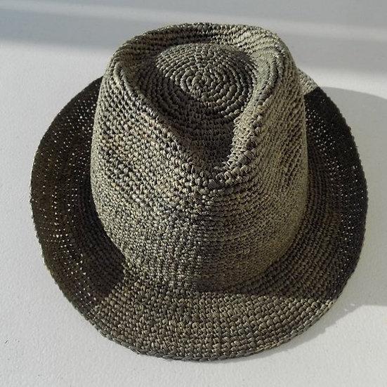 cappello raffia grigio/verde salvia