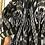 Thumbnail: Giaccone trapuntato ikat b/nero risvolto verde