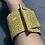 Thumbnail: bracciale giallo bruciato e metallo