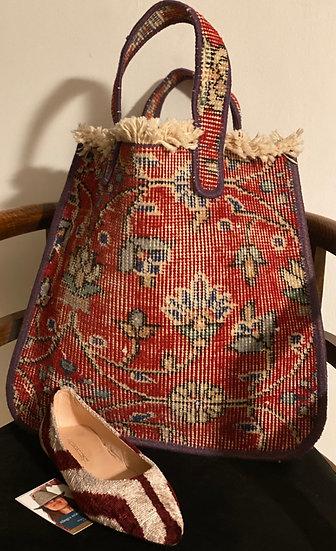 Borsa a mano tappeto kilim vintage