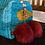 Thumbnail: Trousse beauty raso/cotone turchese pompon