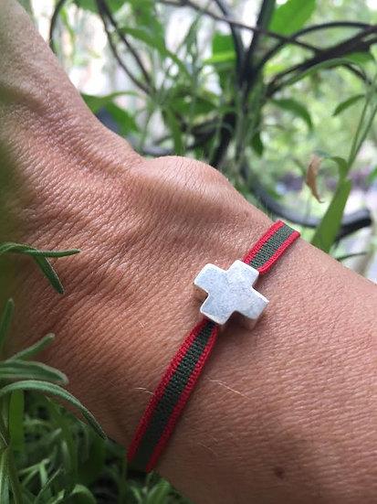 braccialetto croce argento 925