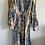 Thumbnail: Vestiti lungo midi cotone fantasia nocciola azzurro