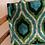 Thumbnail: Borsa shopper velluto verde rombi-gocce nere-turchese