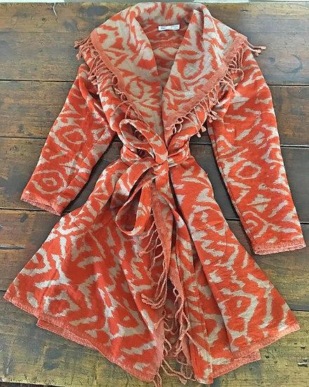 giacchino lana ikat arancio
