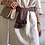 Thumbnail: Vestito manica 3/4 lino beige c/cintura