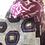 Thumbnail: Borsa shopper velluto ikat melanzana avorio