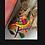 Thumbnail: Secchiello tessuto a mano nocciola multicolore