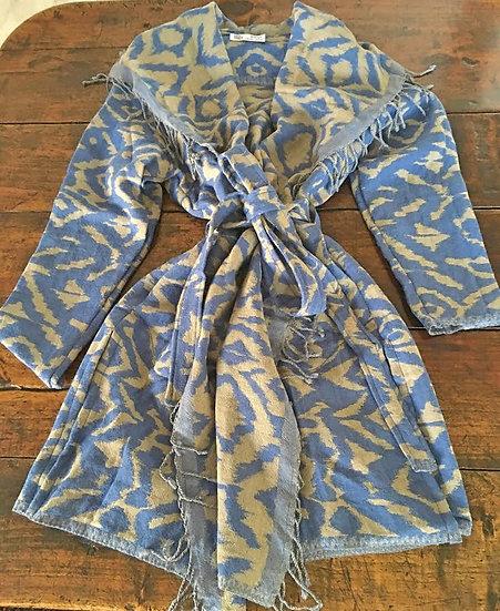 giacchino lana ikat blu