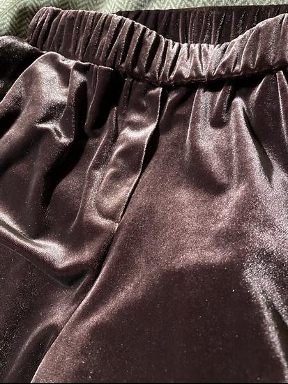 Pantaloni velluto melanzana
