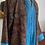 Thumbnail: Cappottino spolverino lana bordeaux bordo turchese