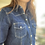 Thumbnail: Camicia jeans manica 3/4 gancetto