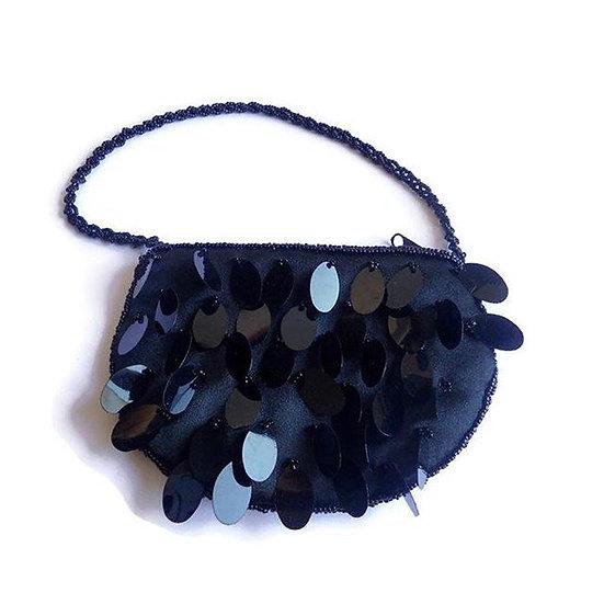 borsina gioiello paillettes nera