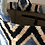 Thumbnail: Borsa in velluto ikat rombi azzurro-nero