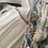 Thumbnail: Vestito copricostume leggero lungo garofani blu pavone