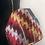 Thumbnail: Borsecchiello tracolla velluto rosso/blu/ocra