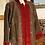 Thumbnail: Cappottino lana velluto verde/rosso