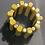 Thumbnail: Bracciale resina senape/oro