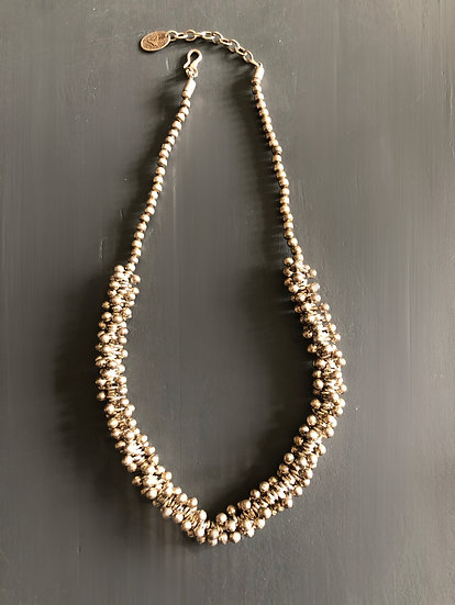 Collana perline in argento