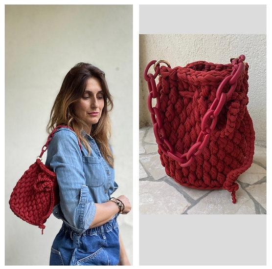 Mini borsecchiello fettuccia rosso