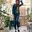 Thumbnail: Set verde smeraldo: pant, giacca e borsa