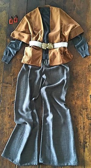 pantaloni ampi grigio scuro