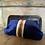 Thumbnail: Borsa pochette velluto blu vintage