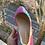 Thumbnail: Ballerine velluto rosa/azzurro