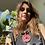 Thumbnail: Collana cordone grigio fumo ciondolo rosso carminio