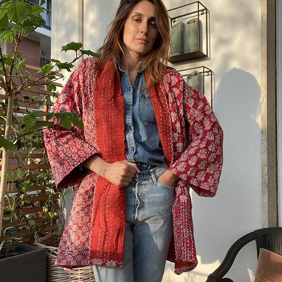 Casacca kimono fantasia rosso