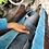 Thumbnail: Cappottino lana velluto rosso/fucsia bordo turchese