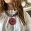 Thumbnail: Collana grigio perla, rosso mattone, lavanda