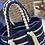 Thumbnail: Borsecchiello e ciabattine beige e blu mare