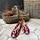 Thumbnail: Mocassino velluto rosso avorio