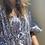 Thumbnail: Caftano vestito fantasia blu
