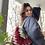 Thumbnail: Borsecchiello velluto rosso multicolore