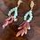 Thumbnail: Orecchini artigianali resina verde acqua malva