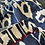 Thumbnail: Pigiama puro cotone ikat blu notte bordino rosso