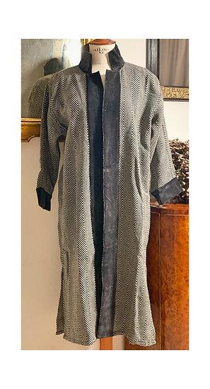 Cappottino lana nero spigato