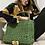 Thumbnail: Borsa cartella verde oliva con tracolla pendant