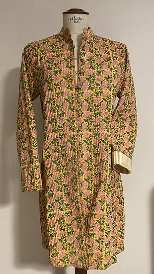 Cappottino trapuntato primavera giallo rosa tenui