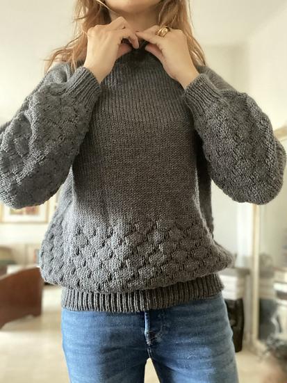 Maglioncino pura lana morbida grigio antracite