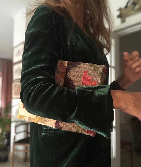 Pochette kilim fatta a mano