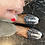 Thumbnail: Combo borsa e mocassino velluto avorio-nero