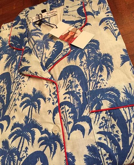 Pigiama cotone blue royal palm