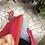 Thumbnail: Cappottino spolverino lana magenta/curcuma