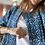 Thumbnail: Giacchino smanicato cotone fantasia blu